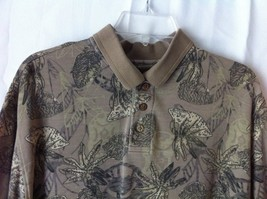 Caribbean Joe Green Polo Short Sleeve shirt size Large - $13.85