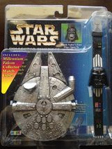 STAR WARS Collector Timepiece Darth Vader and Millennium Falcon Case - New - $27.99