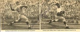sandy koufax autograph magizine clipping dodger great vintage autograph ... - $129.99