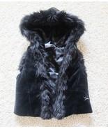NEW Guess Baby Faux Fur Trim Hoodie Vest Size 1... - £15.56 GBP