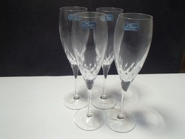 "4 CRISTAL d'ARQUES ""CAPELLA"" FLUTES~~~NEW IN BOX~~hve more - $24.99"