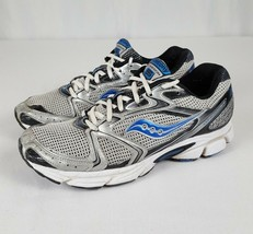 Saucony Men's Cohesion 5 Gray Blue Silver Running Shoes Trainers Sz 8.5 ... - €21,88 EUR