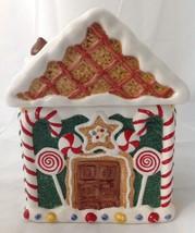 Gingerbread House Figural Cookie Jar Ceramic MPD 1995 World Bazaar - $23.95