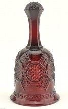 """Avon Crystal 1876 Cape Cod Ruby Red Hostess Bell 6.5"""" T Retired Collectible - $12.99"""