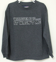 Boys Seattle Cotton Works Gray Long Sleeve Shirt Size Large - $8.95