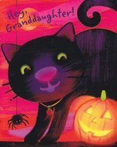 "Greeting Halloween Card ""Hey, Granddaughter"" Love the Way You Shine - $1.50"