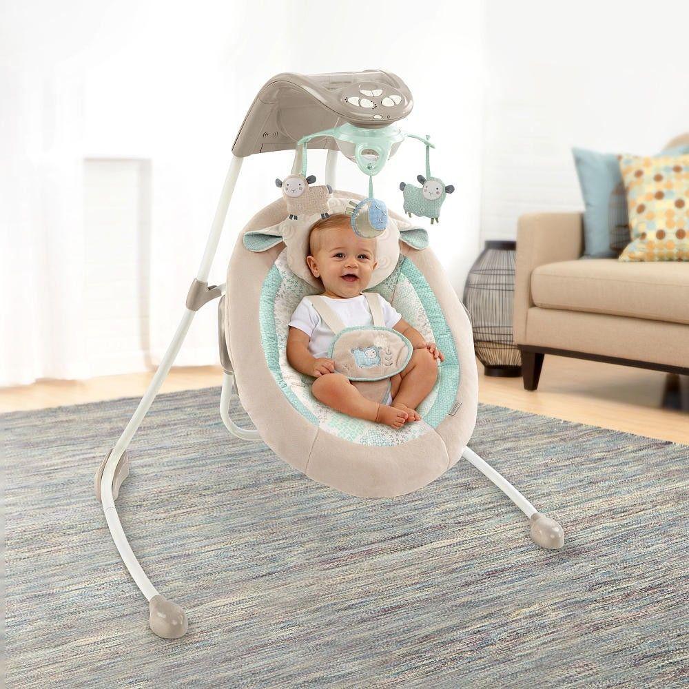 Baby Infant Ingenuity InLighten Cradle Swing with Night ...