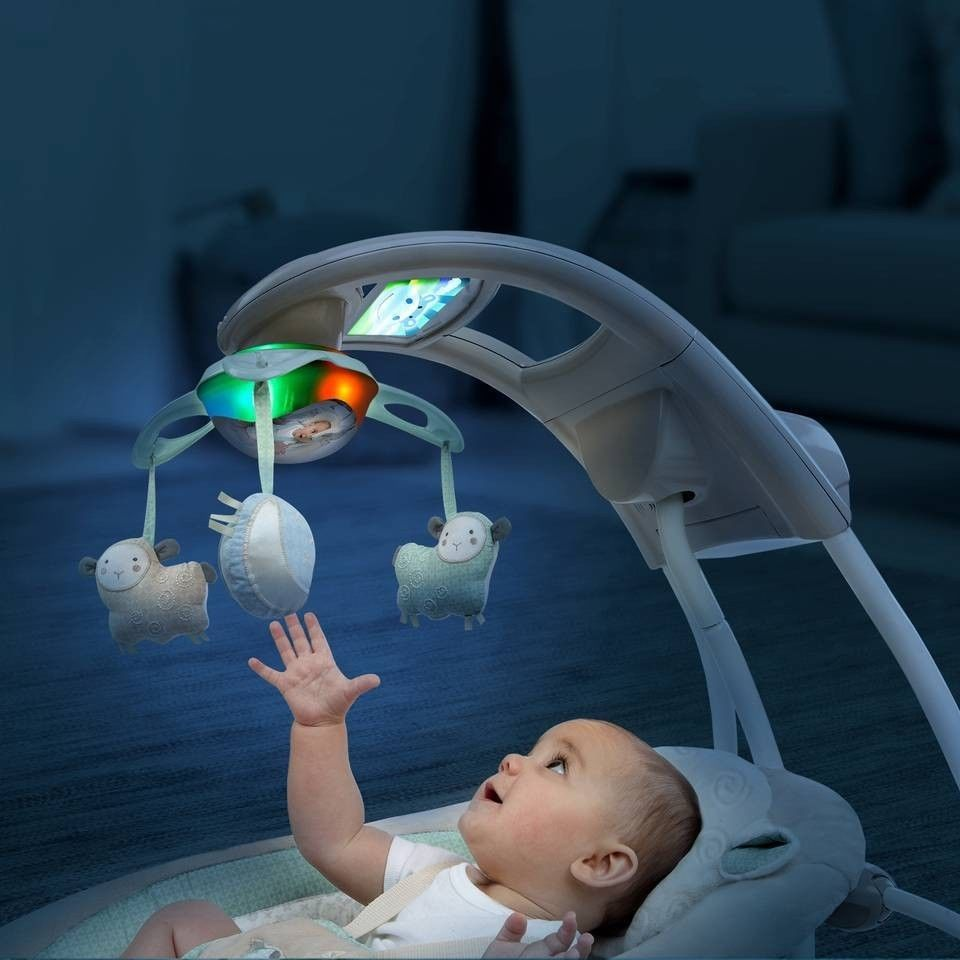 Baby Infant Ingenuity Inlighten Cradle Swing With Night
