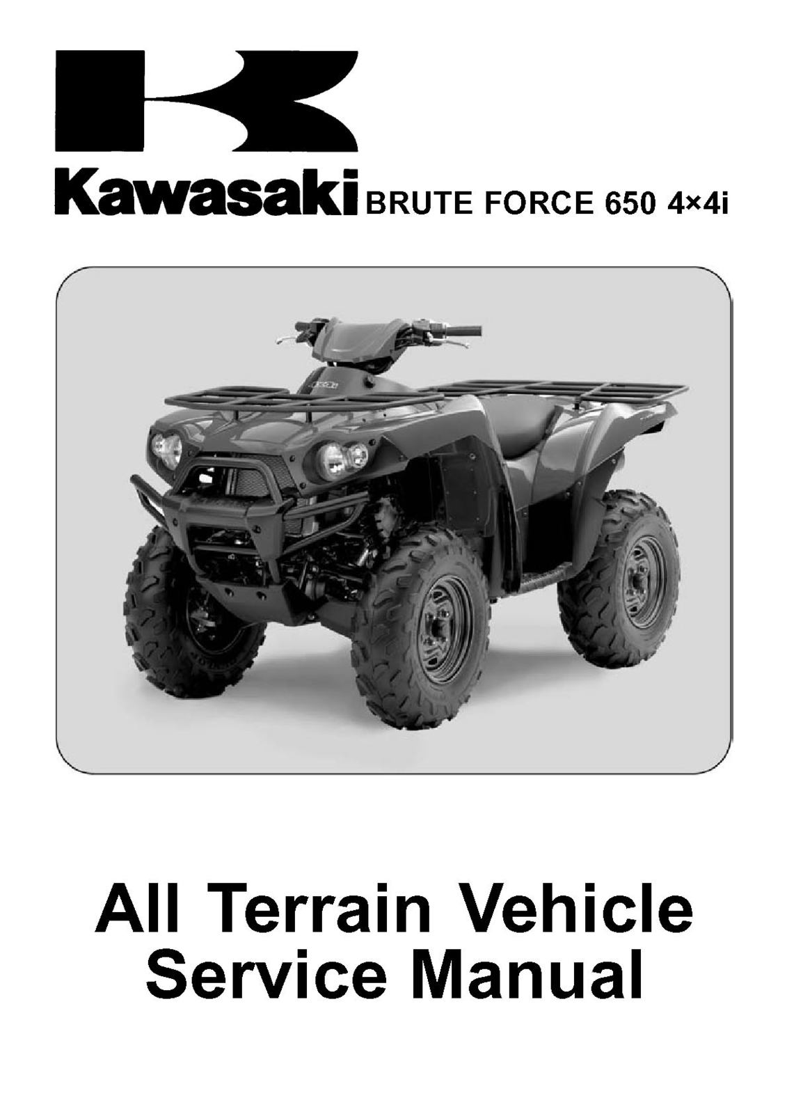 2006 2007 kawasaki kvf650 kvf brute force 650 4x4i shop. Black Bedroom Furniture Sets. Home Design Ideas