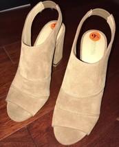 NWOB Michael Kors Anise Open Toe Beige High Heels sz 9.5 - $119.99