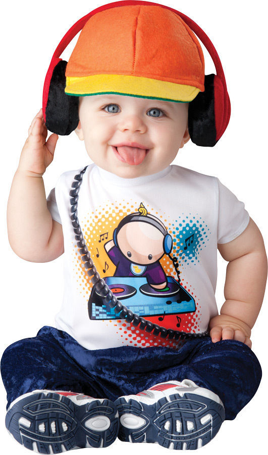 BABY BEATS RADIO DJ RAPPER INFANT/ TODDLER HALLOWEEN COSTUME By InCharacter