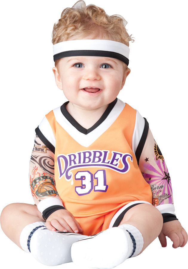 DOUBLE DRIBBLE BASKETBALL PLAYER INFANT/TODDLER HALLOWEEN COSTUME By InCharacter