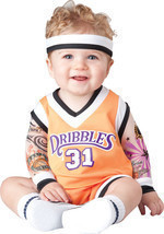 DOUBLE DRIBBLE BASKETBALL PLAYER INFANT/TODDLER HALLOWEEN COSTUME By InC... - $38.18 CAD