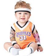 DOUBLE DRIBBLE BASKETBALL PLAYER INFANT/TODDLER HALLOWEEN COSTUME By InC... - £21.92 GBP
