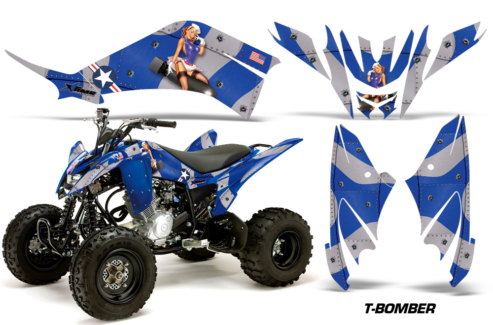 yamaha raptor 125 amr racing graphic kit wrap quad decals atv all years t bomb b decals emblems. Black Bedroom Furniture Sets. Home Design Ideas