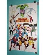 1980's Marvel Comics poster:Avengers/X-Men/Spiderman/Wolverine/Hulk/Thor... - $69.99