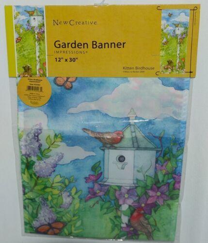 New Creative 25563 Kitten Birdhouse Garden Banner 100 Percent Polyester