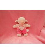 CUTIE Prestige Baby Pink & White Velour Soft Baby Lamb Sheep Plush Lovey - $12.19