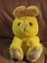 RARE R. Dakin 1982 Yellow Floral Pattern Bunny Rabbit Korea Nut Shells Lovey - $12.19