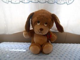 RARE & Hard to find Animal Fair Sad Eyes Brown & Tan Puppy Dog Plush Lovey  - $19.78