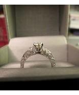 14k White Gold Diamond Engagement Ring Antique ... - $989.99