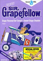 Sir Grapefellow Reproduction Cereal Box Stand-Up Display - General Mills Retro - $15.99