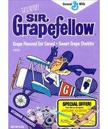 Sir Grapefellow Reproduction Cereal Box Stand-Up Display - General Mills... - $15.99