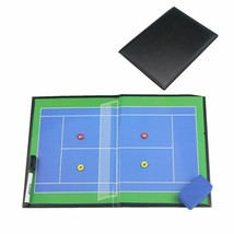 Magnetic Leather Folding Coaching Tennis Board With Pen Tennis Accessori... - $37.02