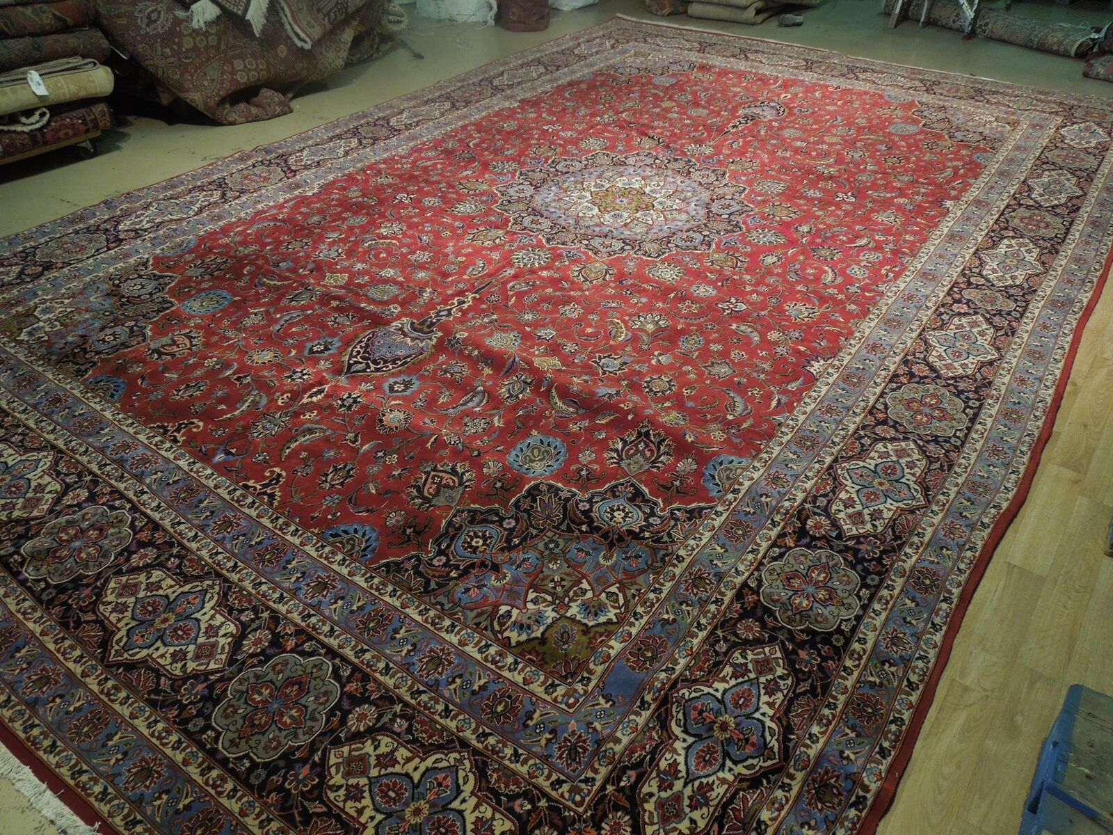 11x17 Red Traditional Handmade Fine Quality Sheik Safi Najaf Persian Rug image 5