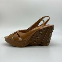 Women's Nike Air G Series Brown Leather Heels Wedges, Size 7.5 B - £15.32 GBP