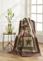 Plymouth Quilted Throw Most Popular Blanket Hand made Burgundy black tan - ₹6,399.60 INR