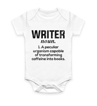 Writer Funny Books English Nerd Hipster Body Suit Baby Grow Vest Gift - $10.46
