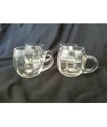 Godinger Silver Art Co Crystal Ribbed Cups Set of 4 Mugs - $28.45