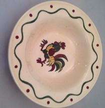 Vintage Metlox Poppytrail Rooster Set of 2 Dessert / Fruit Bowl California - $6.85