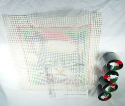 "Christmas Cat Latch Hook Set 4695 12""x 12"" Holiday Decor Kit - $12.99"