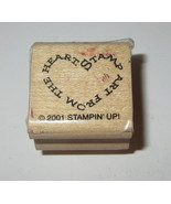 Stamp Art From the Heart Rubber Stamp Stampin' Up! Rare Retired Sign Car... - $3.95
