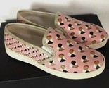 New Coach Style C117 FG2113 Slip on Heart Print Women's Shoes Size 5.5 B Blush