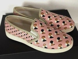 New Coach Style C117 FG2113 Slip on Heart Print Women's Shoes Size 5.5 B Blush - $74.00