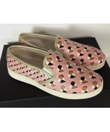 New Coach Style C117 FG2113 Slip on Heart Print Women's Shoes Size 5.5 B Blush - $74.00