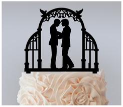 Gay Wedding,Cake topper,Cupcake topper,silhouette Gay Same Sex : 11 pcs - $20.00