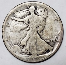 1916D Walking Liberty Half Dollar 90% Silver Coin Lot# E 80