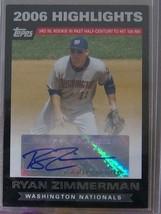 2007 Topps Highlights Autografi # Rz Ryan Zimmerman - $20.38