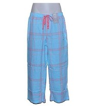 Charter Club Cropped Pajama Pants in Picnic Plaid Blue, S (NWT $37) - $15.83