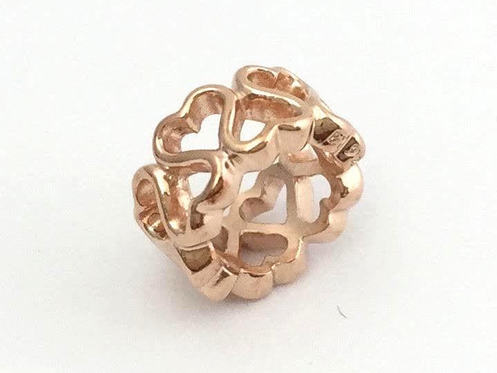 1pcs European Silver CZ Charm Beads Fit  925 Necklace Bracelet Chain B80