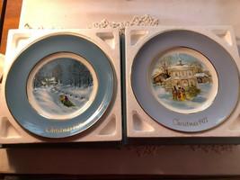 Avon Christmas Plates 1976 & 1977 - $7.20