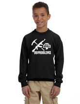 Kids Youth Sweatshirt Battle Royale 99 Problems Cool Game Top - $28.94