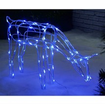 Christmas Decoration Lights Rope in Door Out Side LED Reindeer Garden Xm... - £49.23 GBP