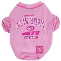 NFL New York Jets Pink Dog T-Shirt, Large. - Football Sports Fan Pet Shirt. - $4.94