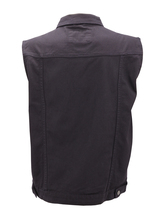 Men's Classic Button Up Casual Cotton Stretch Denim Biker Jean Jacket Vest image 6
