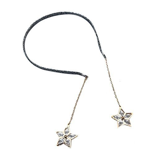 Set of 2 Graceful Hair Accessories with Pendant Earrings Fashion Headbands Stars